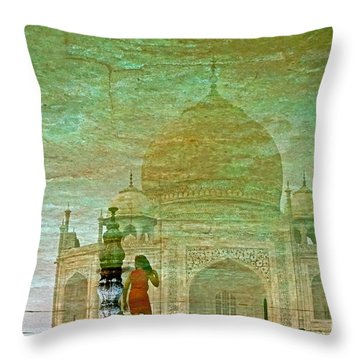 Reflections At The Taj Throw Pillow