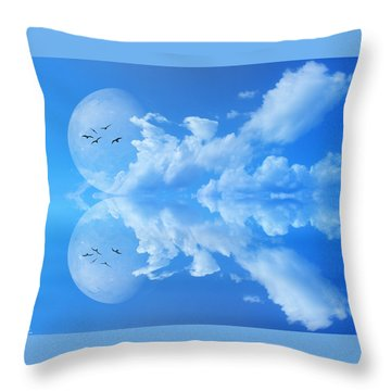 Throw Pillow featuring the photograph Reflections by Bernd Hau