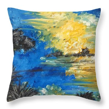 Reflections Throw Pillow by Dayna Lopez