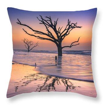Reflections Erased - Botany Bay Throw Pillow by Rick Berk