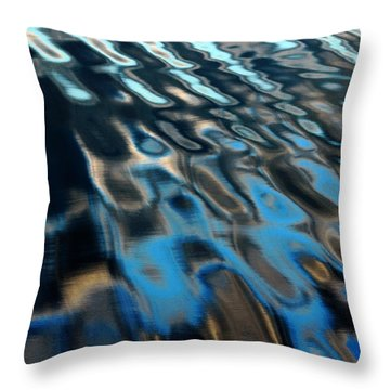 Reflections From A Dock Throw Pillow by Debbie Oppermann