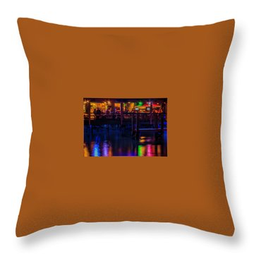 Reflections From Riverview Grill Throw Pillow