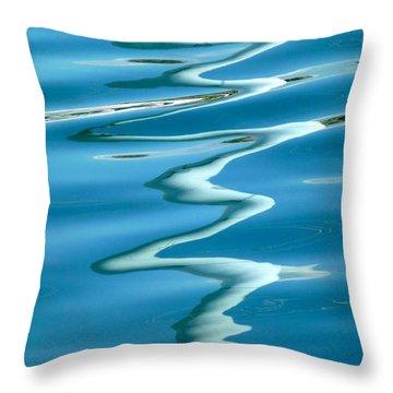 Reflections Genoa Harbor 2 Throw Pillow