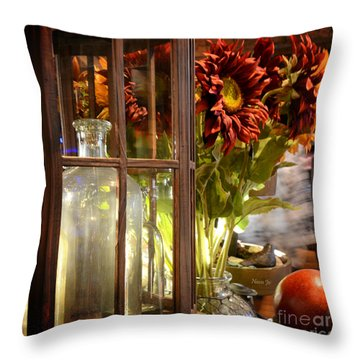 Reflections In A Glass Bottle Throw Pillow