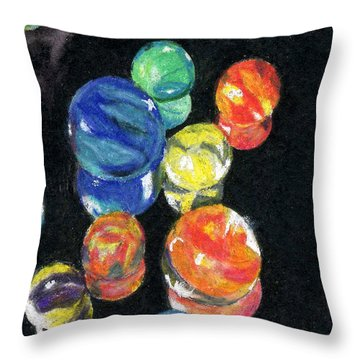 Reflections In Black Throw Pillow