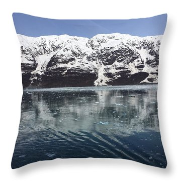 Reflections In Icy Point Alaska Throw Pillow