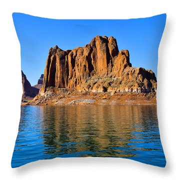 Throw Pillow featuring the photograph Lake Powell Reflections by Dany Lison