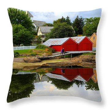 Reflections In Rorvik Throw Pillow by Laurel Talabere