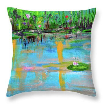 Reflections In Spring Throw Pillow