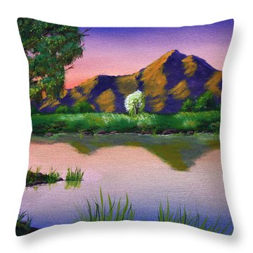 Reflections In The Breeze Throw Pillow