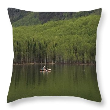 Reflections In The Lake Throw Pillow