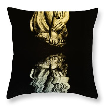 Reflections In The Moonlight Throw Pillow by Bill Cannon