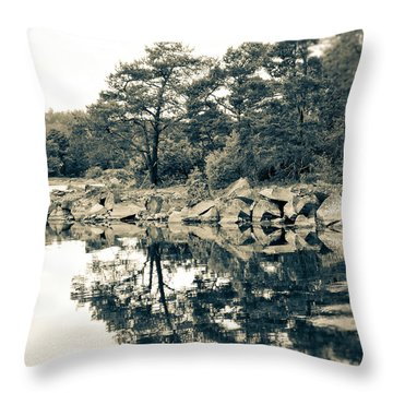 Throw Pillow featuring the photograph Reflections by Karen Stahlros