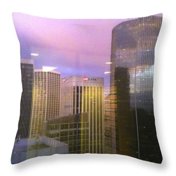 Reflections Looking East Throw Pillow