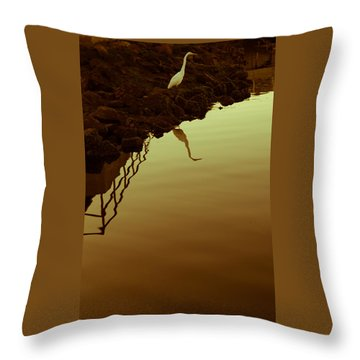 Elegant Bird Throw Pillow