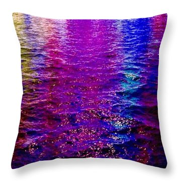 Throw Pillow featuring the painting Reflections by Mark Taylor