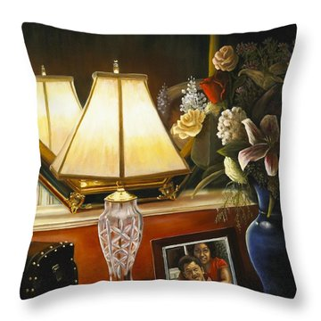 Throw Pillow featuring the painting Reflections by Marlene Book