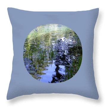 Throw Pillow featuring the photograph Reflections  by Mary Wolf