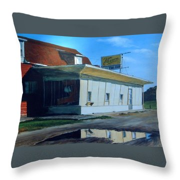 Reflections Of A Diner Throw Pillow