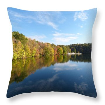 Reflections Of Autumn Throw Pillow by Donald C Morgan