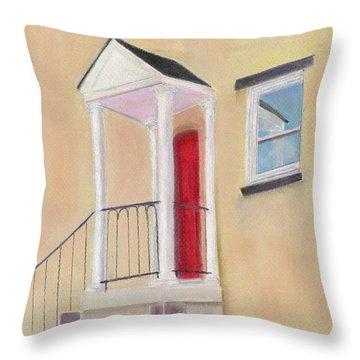 Red Door - Baltimore Throw Pillow