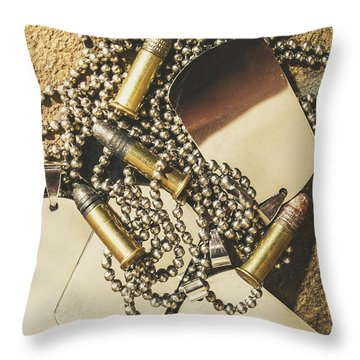 Throw Pillow featuring the photograph Reflections Of Battle by Jorgo Photography - Wall Art Gallery