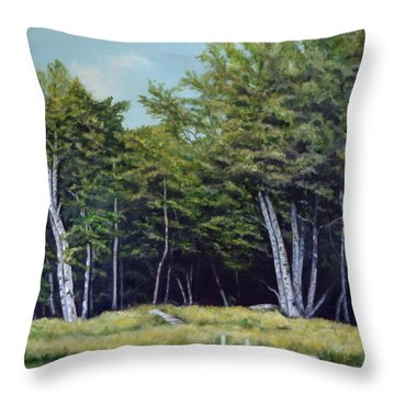 Reflections Of Birches Throw Pillow