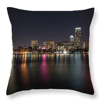 Reflections Of Boston Throw Pillow