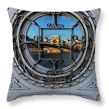 Reflections Of Budapest Throw Pillow