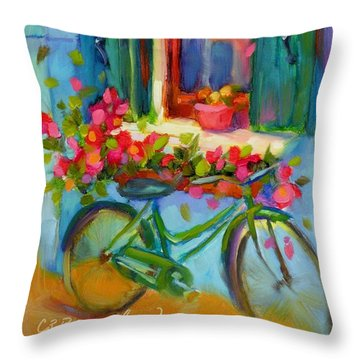 Reflections Of Burano Throw Pillow