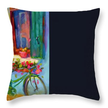 Reflections Of Burano Throw Pillow by Chris Brandley