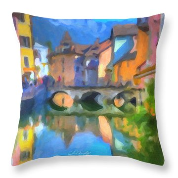 Reflections Of Eze Throw Pillow