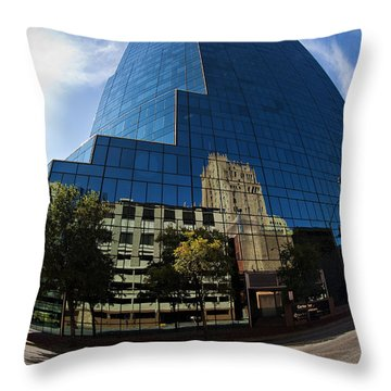 Reflections Of Fort Worth Throw Pillow