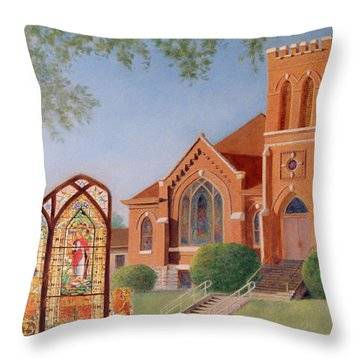 Throw Pillow featuring the painting Reflections Of God's Love by Nancy Lee Moran