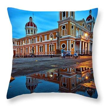 Reflections Of Granada, Nicaragua  Throw Pillow