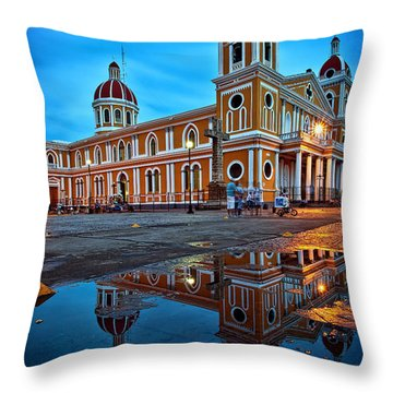 Reflections Of Granada, Nicaragua  Throw Pillow