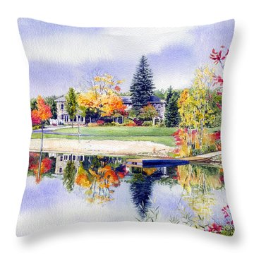 Reflections Of Home Throw Pillow by Hanne Lore Koehler