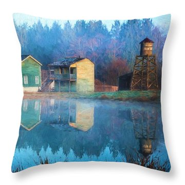 Reflections Of Hope - Hope Valley Art Throw Pillow by Jordan Blackstone