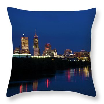 Throw Pillow featuring the photograph Reflections Of Indy - D009911 by Daniel Dempster