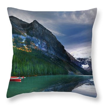 Reflections Of Throw Pillow by John Poon