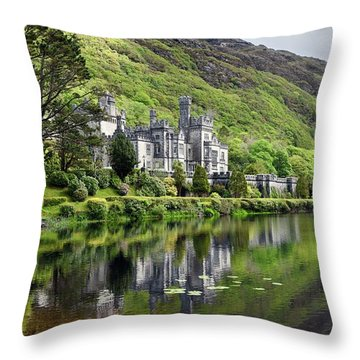 Reflections Of Kylemore Abbey Throw Pillow