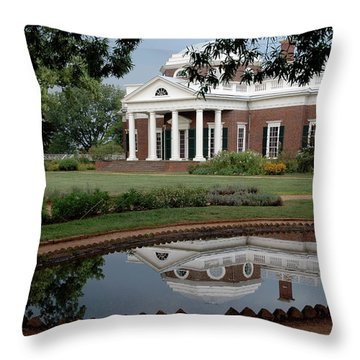 Reflections Of Monticello Throw Pillow