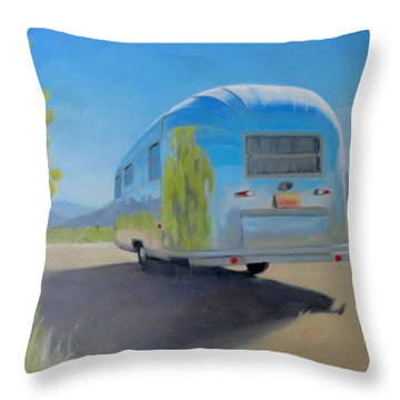 Reflections Of Mountain And Sage Throw Pillow