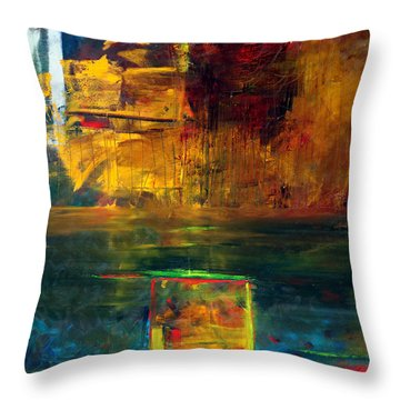 Reflections Of New York Throw Pillow