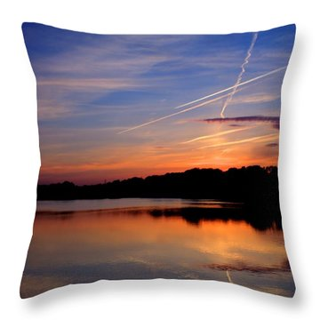 Reflections Of Night Throw Pillow