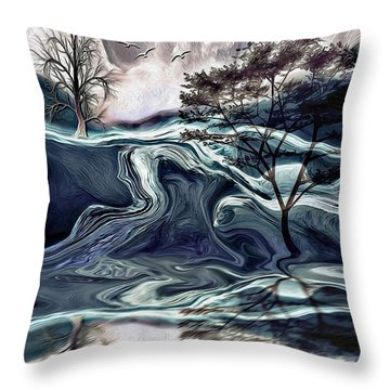 Reflections Of Nirvana Throw Pillow