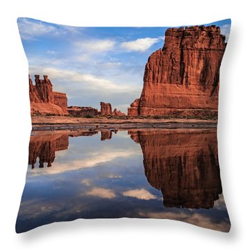 Reflections Of Organ Throw Pillow