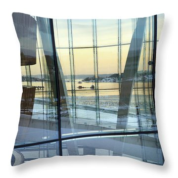 Reflections Of Oslo Throw Pillow