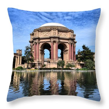 Reflections Of Palace Of Fine Arts Throw Pillow