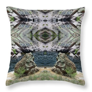 Reflections Of Self Before Entering The Vortex Throw Pillow